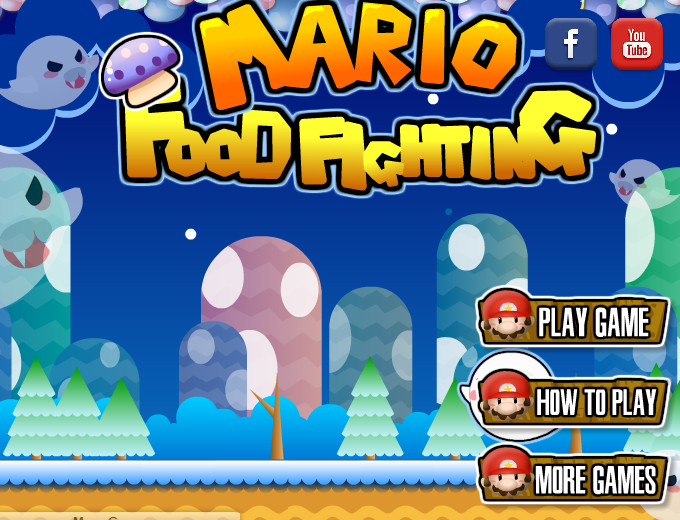 Super Mario Food Fighting