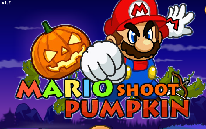 Super Mario Halloween Shoot Pumpkin