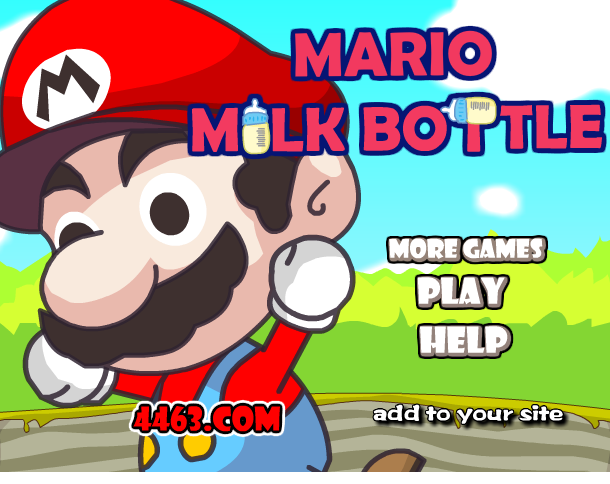 Super Mario Milk Bottle